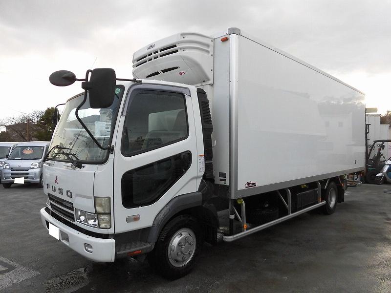 4t標準 冷蔵冷凍車(低温) 観音式 格納パワーゲート ベットレス 載替(H21年式)